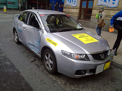Honda Accord (ShaunPG) Tags: bus car manchester crash taxi saab