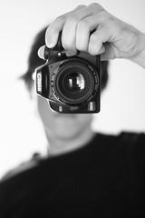 Self #2 (Chrophe) Tags: portrait bw self canon 50mm autoportrait nb sp 50mm118 canoneos1000d eos1000d