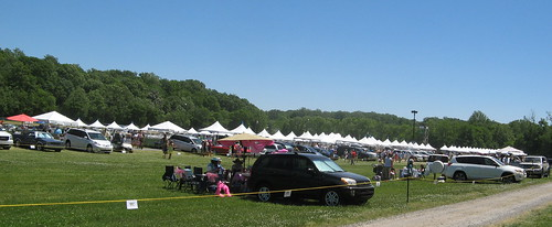 Crowds at the Tanglewood Steeplechase