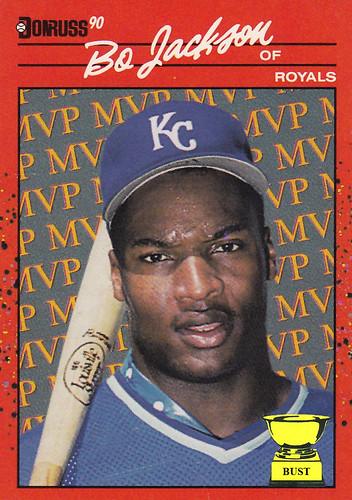 Baseball Card Bust Bo Jackson 1990 Donruss Mvp