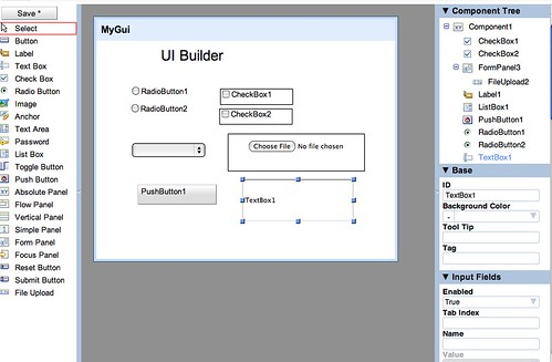 Google Apps UI builder