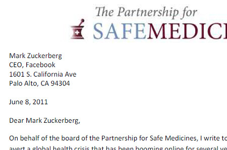 Image from our letter to Facebook CEO Mark Zuckerberg