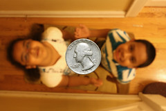 Heads or Tails (fahid chowdhury) Tags: face kids canon coin or cent flip 25 heads toss quarter tails xsi mehreen fahid chowdhury ishraque