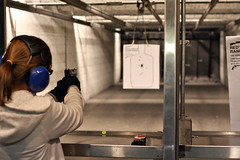 Aim ... (the rowdy dog) Tags: gun pistol reds caitlyn shootingrange 9mm glock pflugervilletx