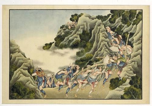 012- Grupo de peregrinos realizando la escalda al santuario de Ôyama