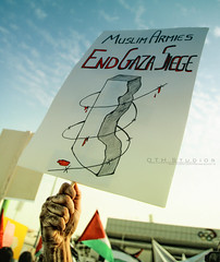 END GAZA SIEGE !!! (~OTH~) Tags: canon war hand muslim protest end 5d friday studios siege gaza doha qatar oth armies qatarclub