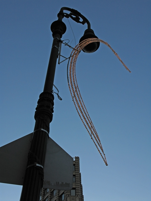 lamppost decoration, West Village, NYC