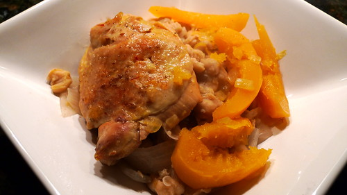 Chicken Tagine with Squash & Chickpeas
