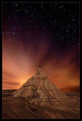 En soledad * (martin zalba) Tags: españa night stars spain desert estrellas nocturna desierto navarra bardenas sigma1020 canon50d goldenheartaward martinzalba