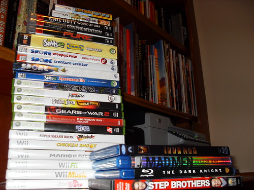 Games and movies purchased in 2008