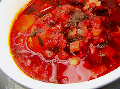 Crimson Cabbage Borscht
