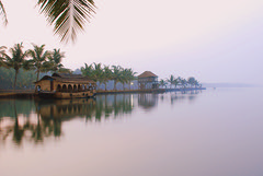 Floating away (Aditi Patnaik) Tags: morning india water reflections houseboat kerala backwaters coconuttrees kettuvallam abigfave