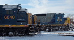 DSC_0049 (firephoto25) Tags: railroad snow ny yard train d50 nikon rochester locomotives csx 2572 6040 7527