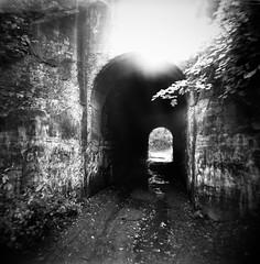 Screaming Tunnel (J.T.R.) Tags: film holga delta 400 artifact artlibre autaut photographicartifact