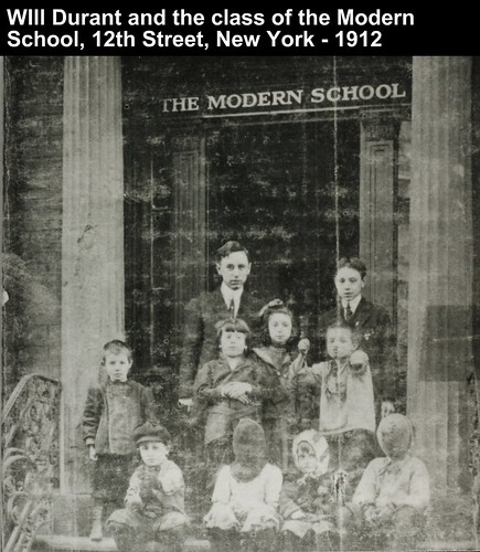 Will Durant and the class of the Modern School, 12th Street, New York - 1912