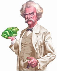 Mark Twain and a frog