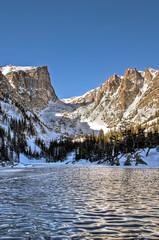 Frozen Dream Lake, Rocky Mountain National Park, Colorado - 02 (wboland) Tags: winter usa ice landscape nikon colorado scenic d200 rockymountainnationalpark frozenlake dreamlake hallettpeak january2009