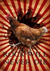 Rock Will Never Die (Joo Knihs Neto) Tags: rock photoshop galinha