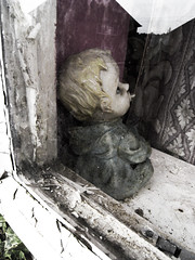 Home (djemde) Tags: nottingham home window doll peeling paint curtains windowsill stanns