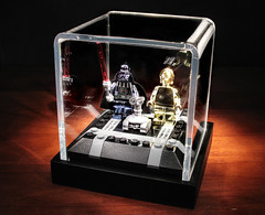 Overkill? (olo) Tags: walter toys robot starwars shiny lego display case explore chrome m8 darthvader droid bot c3po treadwell minifigures exclusives