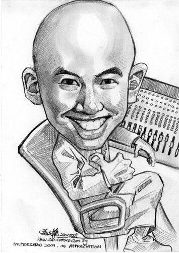 Caricature of Billy Koh