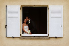 (negeen) Tags: wedding france window groom bride shutters february 2009 parham yasmine