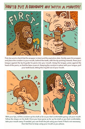 How to put a condom on with your mouth