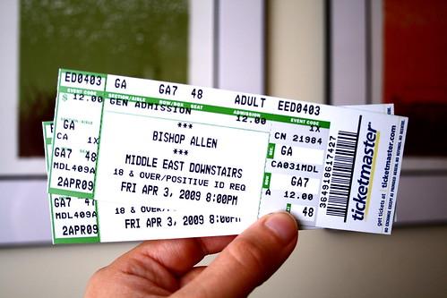 04.02.2009 - BISHOP ALLEN TICKETS!!!