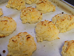 Cheddar and Garlic Drop Biscuit - Cooling