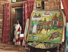 africa ethiopia lalibela monasteryofna'akutola'ab ethiopianorthodoxpriest ethiopianorthodoxreligiouspainting