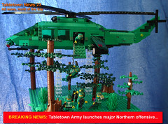 Newsflash (Doctor Sinister) Tags: army lego military helicopter devastator tabletown
