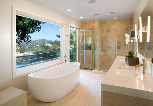 Modern, luxurious, elegant Bathroom interior design. Master bathroom inspiration ideas, minimalist bathroom interior style