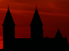 Sunset over Cathedral of Viborg/Sonedgang over Viborg Domkirke 14 (klauzito) Tags: church kirke domkirke viborg cathdral theturntable