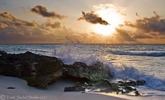 Sunrise Splash (tsechel) Tags: morning vacation sun beach water rock sunrise mexico sand playadelcarmen wave splash quintanaroo caribbeansea playacar 6gnd 9gnd