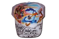 Airbrush Cap Looney Tunes (cokyone) Tags: portrait hat graffiti stencil comic mesh painted caps cartoon cap spongebob pilze truckercap tupac airbrush mtzen scarface fusball unikat derpate