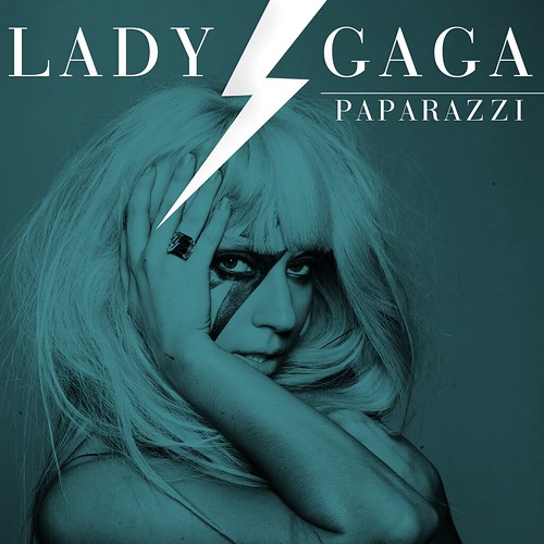 lady gaga Paparazzi single cover