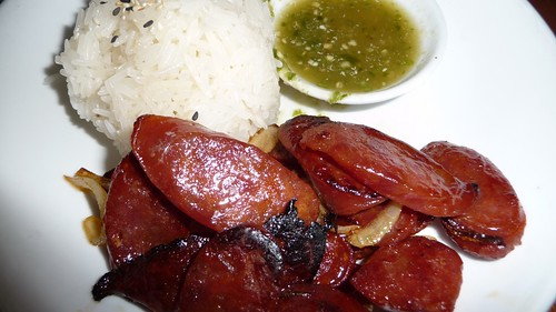 Sauteed Chinese sausage at Kuma Inn