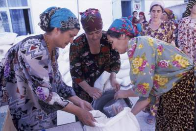 food distribution in Tajikistan