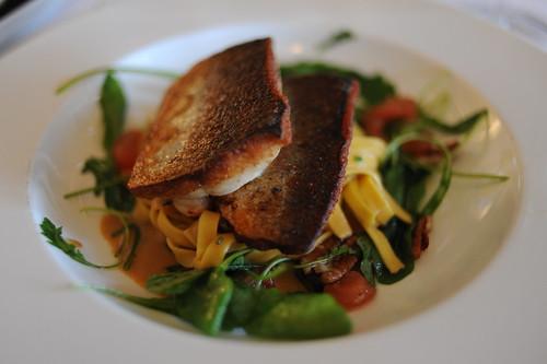 ラバレ(魚)とザリガニスープのパスタ