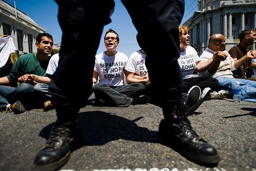 Behind police lines after Prop 8 decision