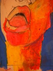 """Poneloya"" (Detail), 2009, Natalie Souza (natty.s) Tags: portrait detail art face pencil mouth sketch colorful drawing charcoal oilpastel poneloya nataliesouza"