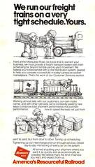 The Milwaukee Road, America's Resourceful Railroad (mod as hell) Tags: 1975 milwaukeeroad trainsmagazine 1970sads