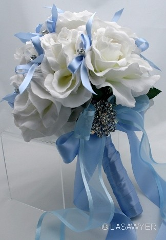 Silk Rose Wedding Bouquet