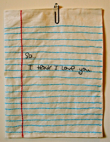 so...i think i love you. [embroidery]