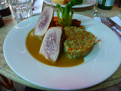 Tuna with heart shaped cous cous, The Refinery, HCMC
