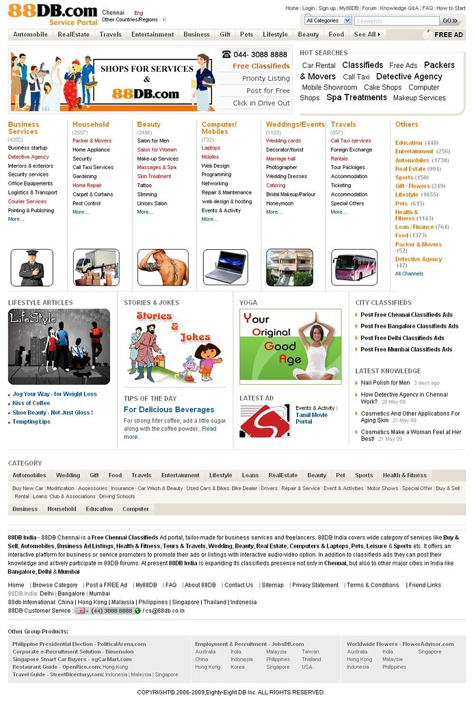 Free Chennai Classifieds - Online Classified Chennai - Business Ads Listings - 88DB Chennai Classifieds