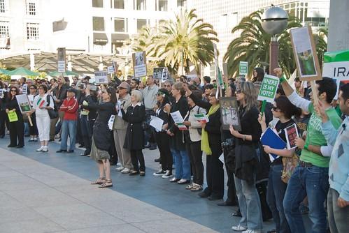 Iranian protest at UN Plaza in San Francisco June 2009