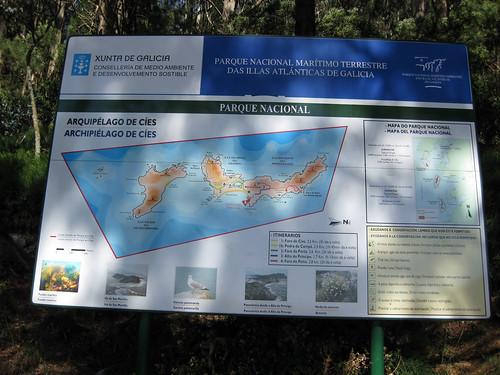 Illas Cíes, itinerarios