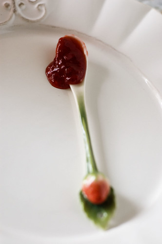 strawberry jam - spoon