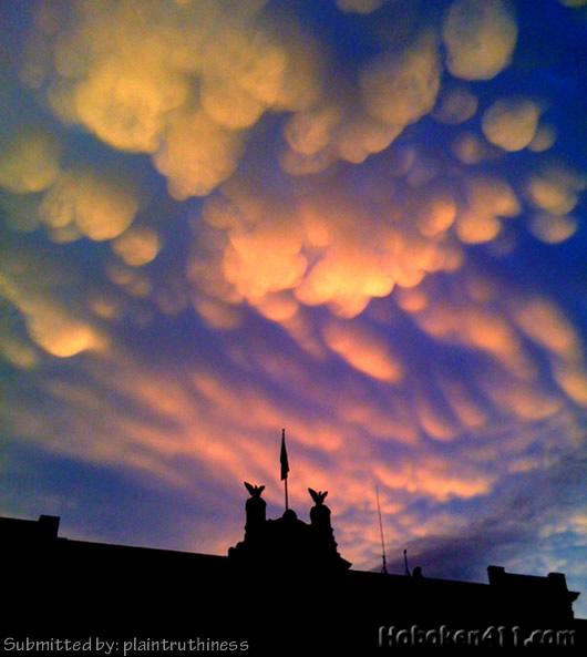Hoboken Crazy Sky Cotton Puff Clouds 1